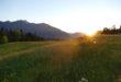 Sonnenuntergang auf dem Hochkreut